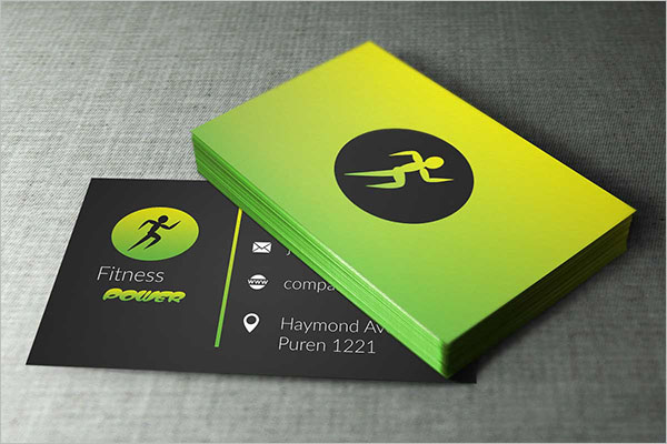 Fitness Business Cards PhotoShop Design