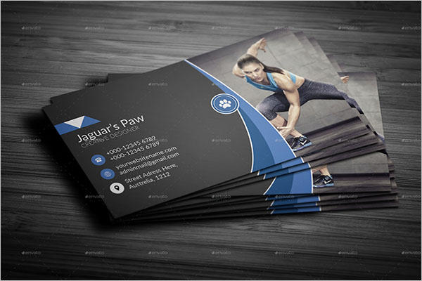 Fitness Designed Business Card Design