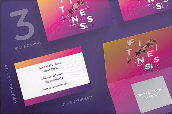 Fitness Gym Business Card Template