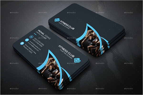Fitness Visiting Card Design