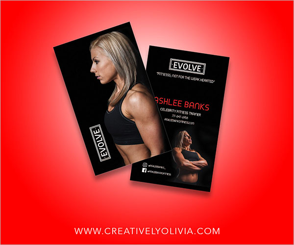 Fitness Web Design Business Card