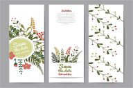 Floral Alphabet Postcard Design