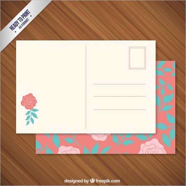 Floral Postcard Free Vector