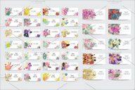 Floral Postcards Set Design
