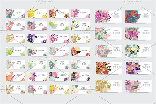 Floral Postcards Set Design
