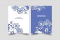 Flower Postcards Design Example