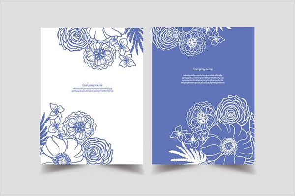 Flower Postcards Design Example