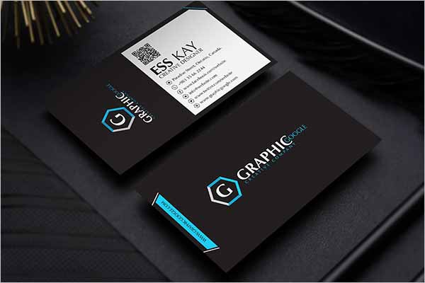 Free Black Business Card Design Illustrator