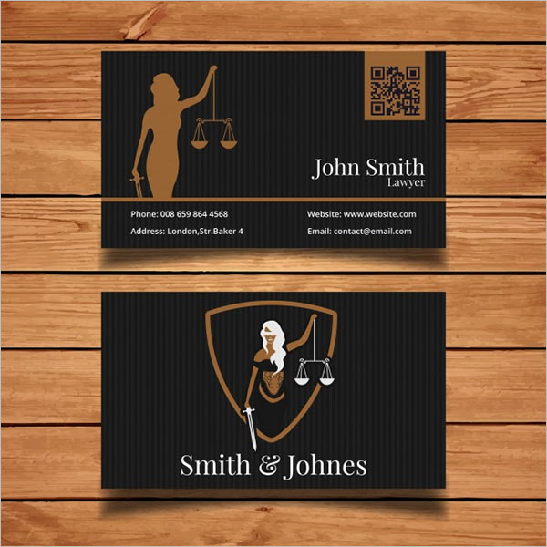 Free Dark Lawyer Business Card