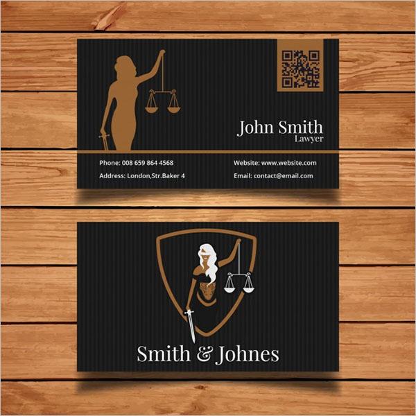 Free Dark Lawyer Business Card