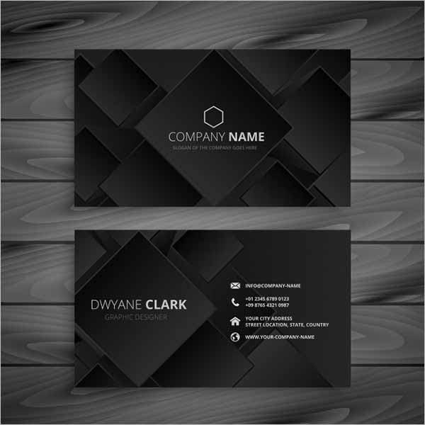 Free Dark black business card design
