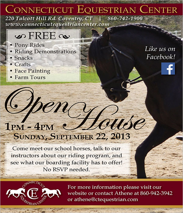 Free Open House Flyer Design