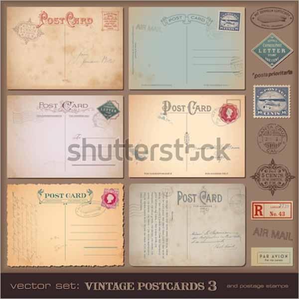Free Vintage Postcard Design