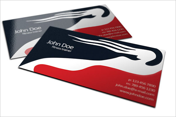 Free fitness trainer business cards design