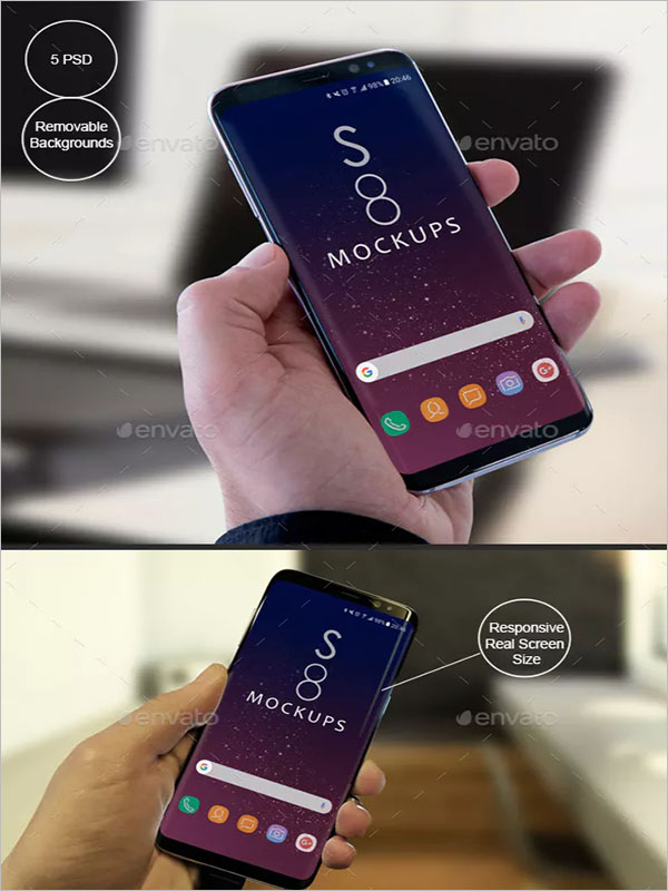 Galaxy Modern Android Mockups-Apps