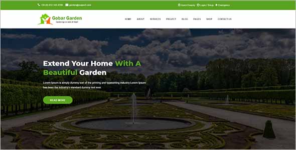 Garden Care WordPress Theme1