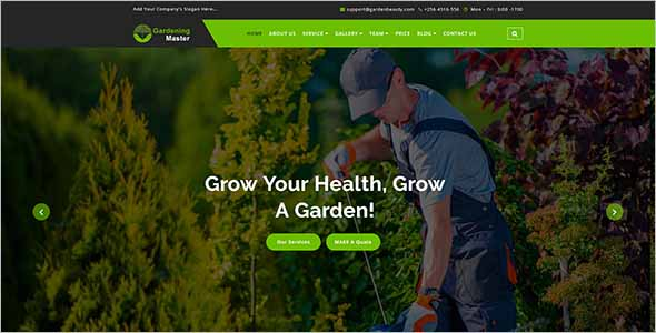 Garden Product Website Template1