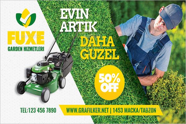 Gardening Business Card PSD