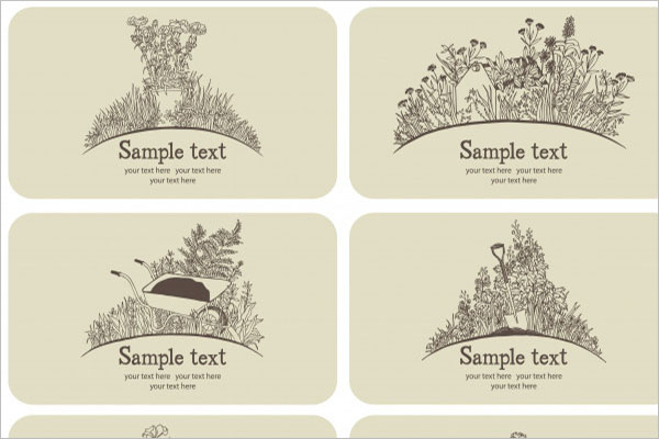 Gardening Business Cards Free Download