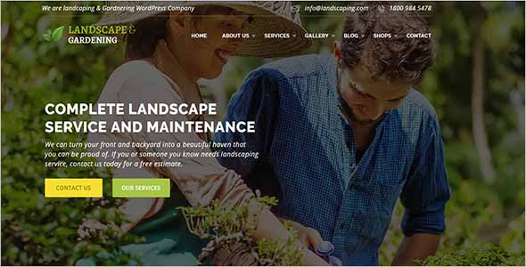 Gardening HTML Website Theme1