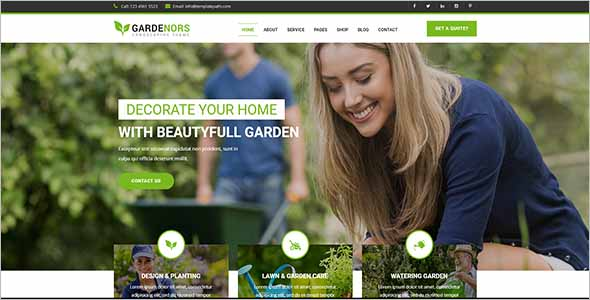 Gardening Website Theme Ideas1