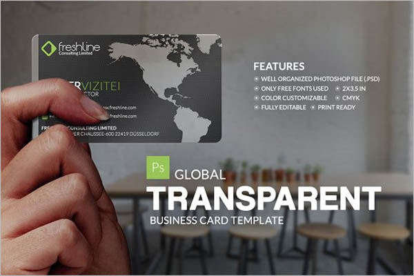 Global Transparent Business Card Design
