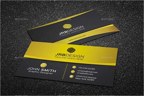 Golden Business Card Design