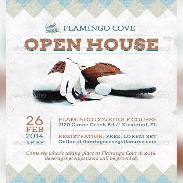 Golf Open House Flyer Design