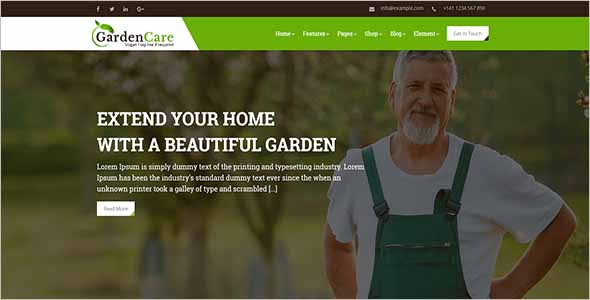 Graphic Gardening Website Template1