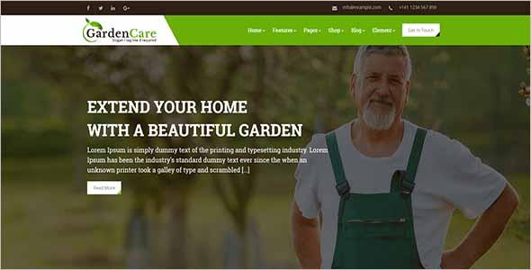 Graphic Gardening Website Template1