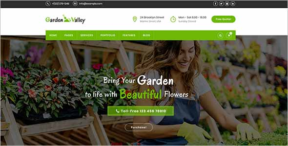 Graphic Gardening Website Template2