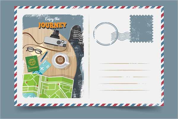 Graphic Holiday Postcard Template