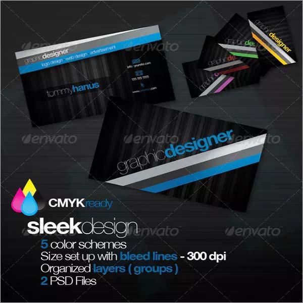 Graphic Sleek Business Card Design