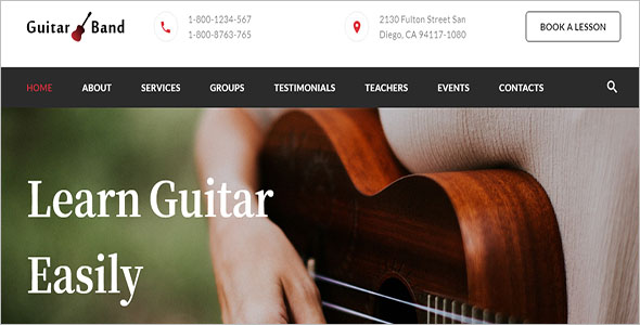 Guitar Band Musical Template