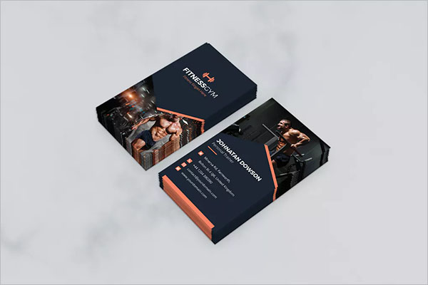 Gym, Fitness & Health Business Card