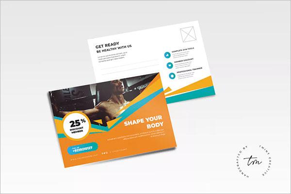 Gym Postcard Marketing