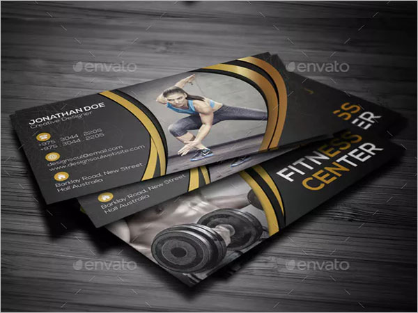 Gym Visiting Card Design Free Download