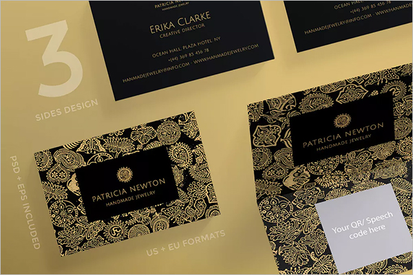 Handmade Jewelry Business Card Template