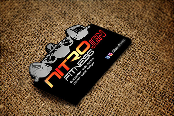 Health & Fitness Business Card Design Template