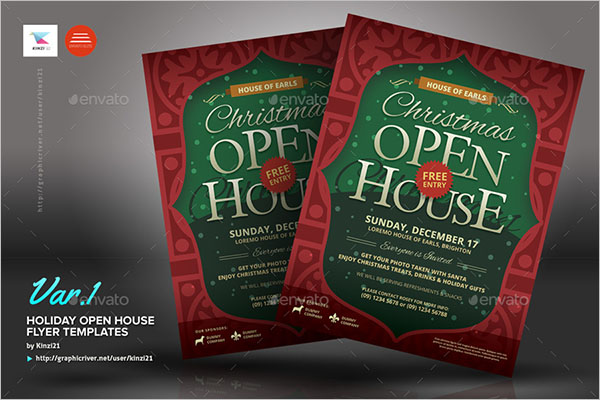 Holiday Open House Flyer Design