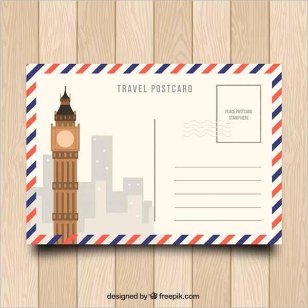 Holiday Postcard Design Free Download