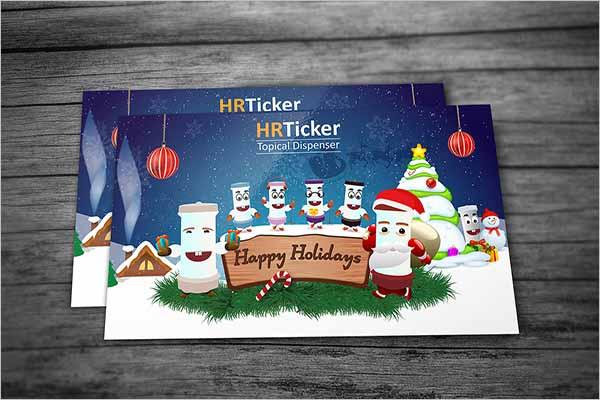 Holiday Writing Postcard Design
