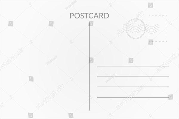 Information Blank Postcard Template