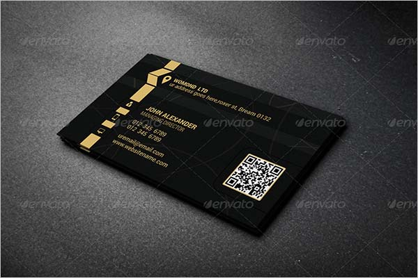 Jewellery Business Card Design Example