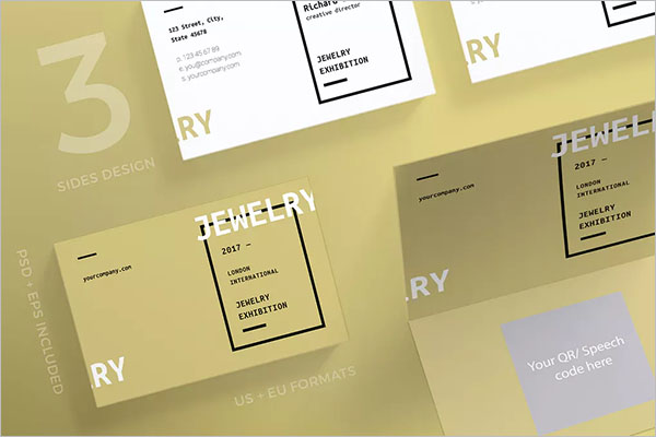 Jewelry Exhibition Business Card Template
