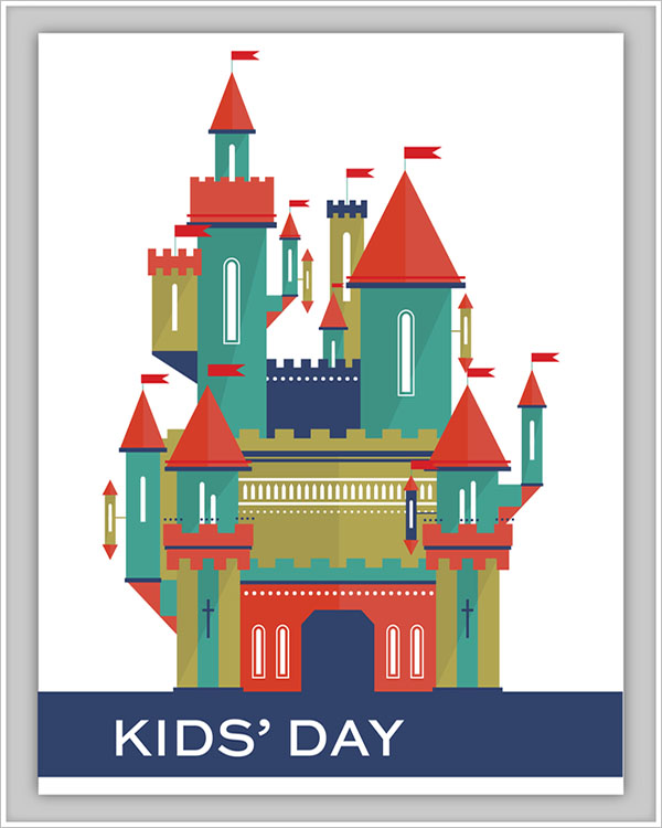 Kids Day Postcard Postcard Design