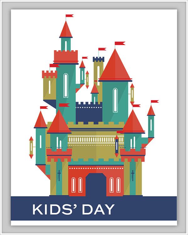 Kids Day Postcard Postcard Design