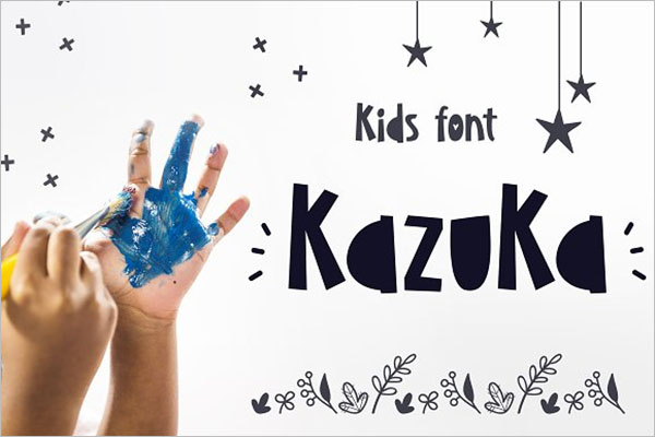 Kids Font Postcard Design