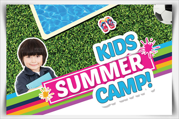 Kids Summer Camp Postcard Design