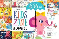 Kids Zone Postcard Design Template